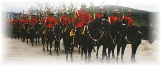 RCMP Musical Ride - Dawson City, Yukon